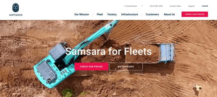 Samsara homepage