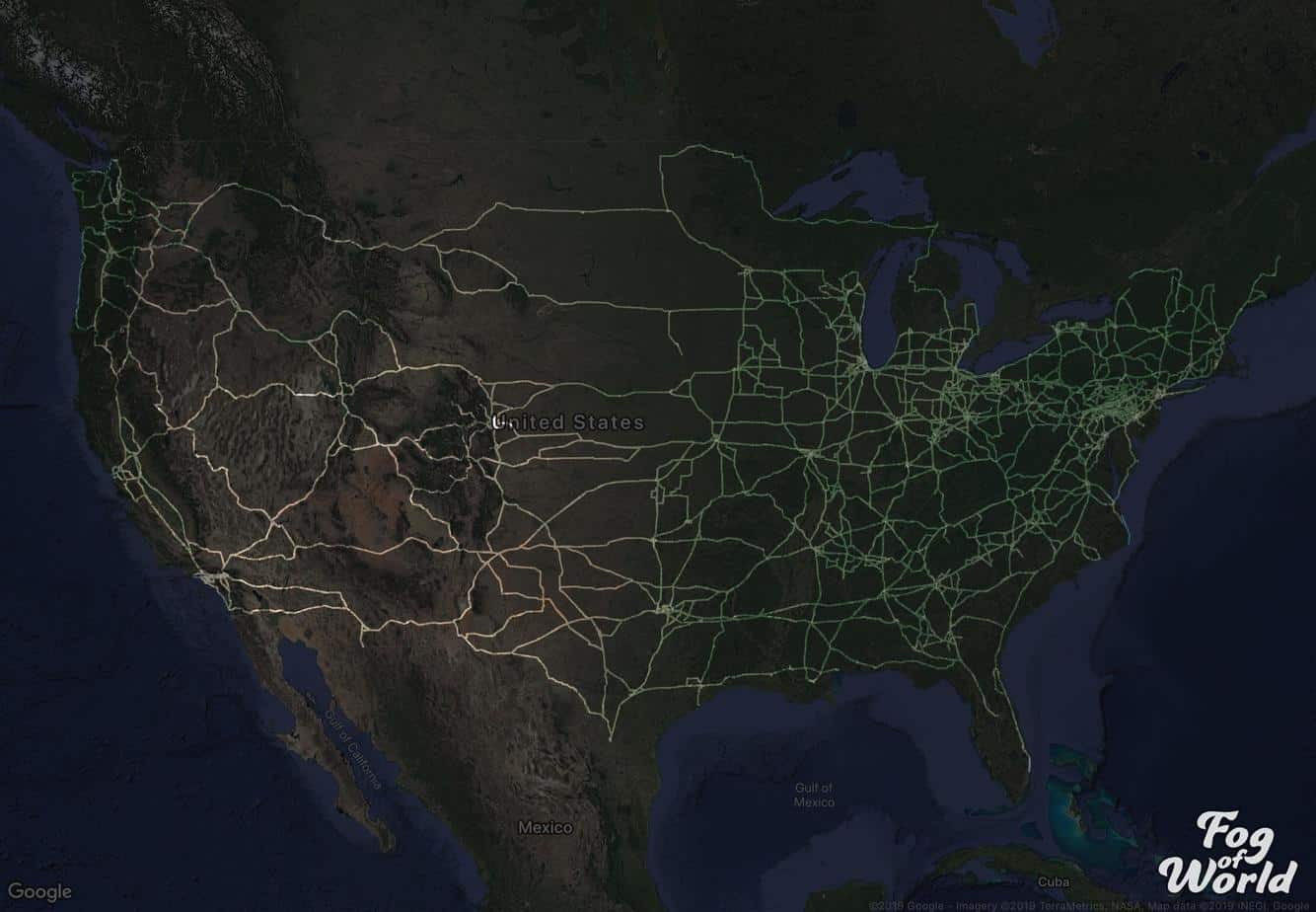7 Years Of Driving As A Professional Truck Driver Shown On A Map