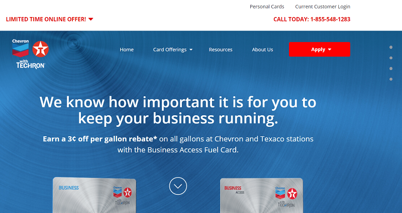 Chevron Texaco fleet fuel cards