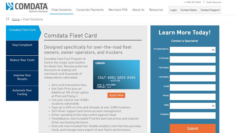Comdata fleet fuel cards