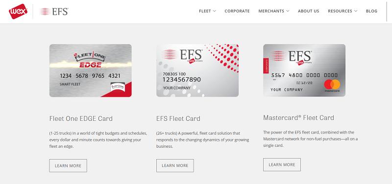 EFS fuel and fleet cards
