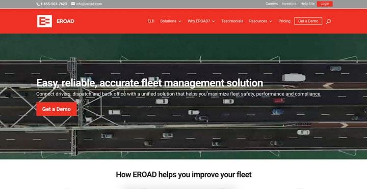 Eroad Homepage