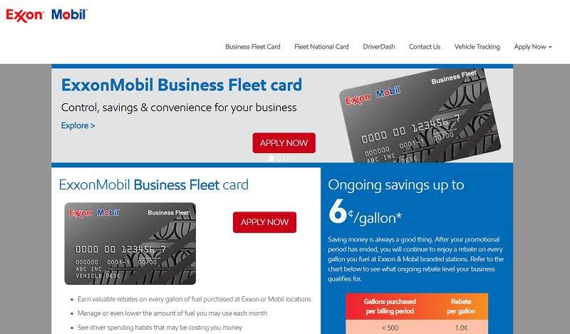ExxonMobil fleet fuel cards