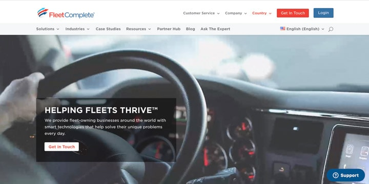 Fleet Complete Homepage