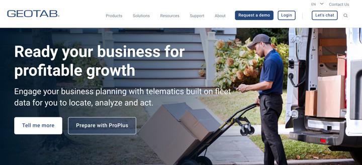 Geotab Homepage