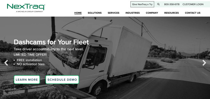 Nextraq home page