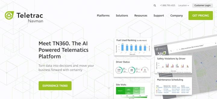 Teletrac Navman Home Page