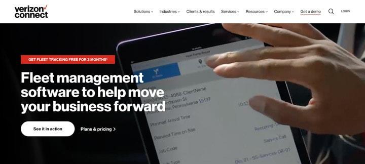 Verizon Connect homepage