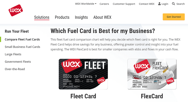 Wex Fleet and Fuel Cards