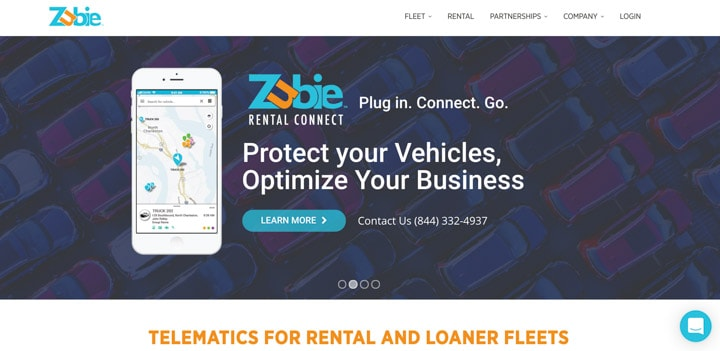 Zubie home page